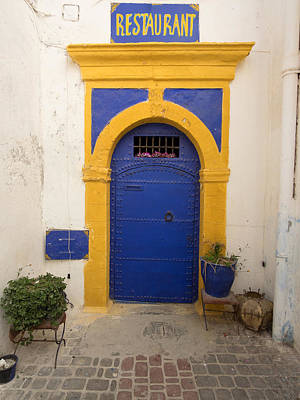 Essaouira Photograph - Entrance To A Restaurant In An Alley by Panoramic Images