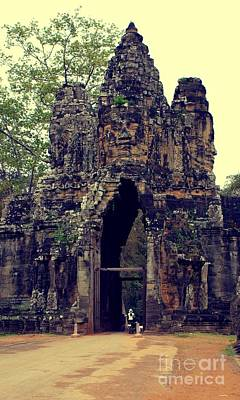 Photograph - Entrance To Angkor Wat IIi by Louise Fahy