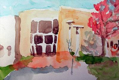 Painting - Entrance To Beth Torah In Fall by Rachel Rose