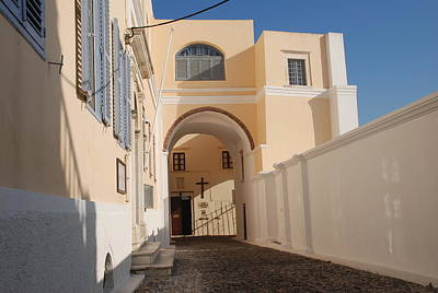 Santorini Photograph - Entrance To Church On Santorini by Just Eclectic