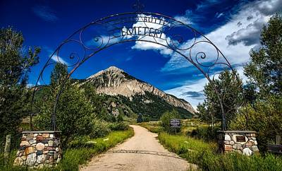 Graveyard Road Photograph - Entrance To Crested Butte by Mountain Dreams