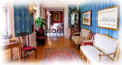 Entrance To Dining Room. Art Print by Ralph Liebstein