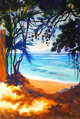 Painting - Entrance To Dougie's Beach by Therese Fowler-Bailey