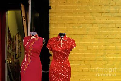 Photograph - Entrance To Dress Making Shop Chinatown by Jim Corwin