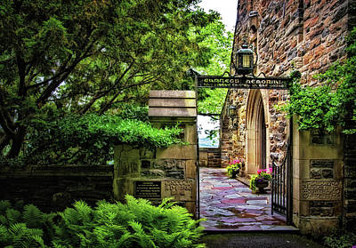 Photograph - Entrance To Garrett Chapel by Carolyn Derstine