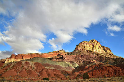 Photograph - Entrance To Grand Wash In Capitol Reef Np by Ray Mathis