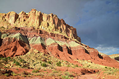 Photograph - Entrance To Grand Wash In Capitol Reef by Ray Mathis