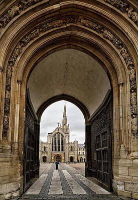 Photograph - Entrance To Norwich Cathedral  by Shirley Mitchell