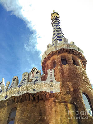 Photograph - Entrance To Park Guell In Barcelona by Colleen Kammerer