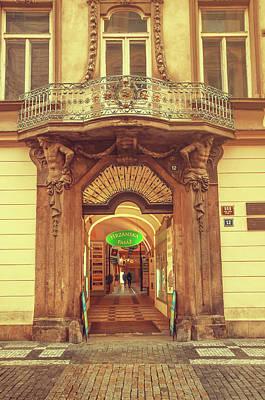 Photograph - Entrance To Passage. Series Golden Prague by Jenny Rainbow