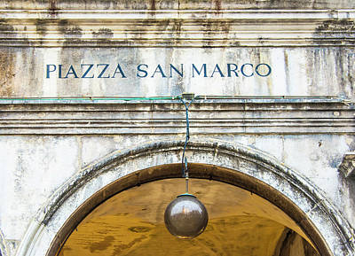 Photograph - Entrance To Piazza San Marco In Venice Italy by Gary Slawsky