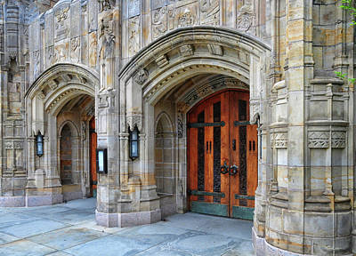 Photograph - Entrance To Sterling Memorial Library by Dave Mills