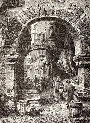 Entrance To The Ghetto In Rome In The Art Print