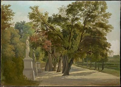 Borghese Painting - Entrance To The Giardino Del Lago Villa Borghese Rome by Gustav Wilhelm Palm