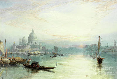 Dome Painting - Entrance To The Grand Canal, Venice by Myles Birket Foster