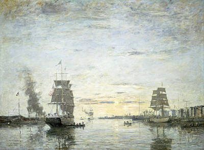Painting - Entrance To The Harbor Le Havre by Eugene Boudin