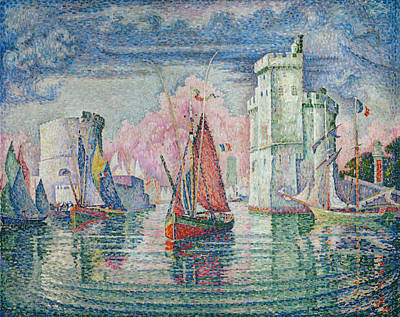 Entrance To The Harbour Of La Rochelle Art Print by Paul Signac
