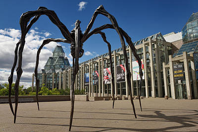 Photograph - Entrance To The National Gallery Of Canada In Ottawa With Bronze by Reimar Gaertner