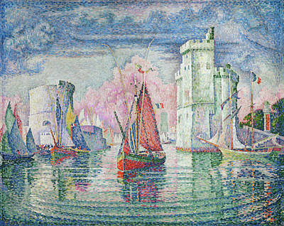 Dock Painting - Entrance To The Port Of La Rochelle by Paul Signac