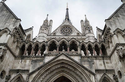 Photograph - Entrance To The Royal Courts London by Shirley Mitchell
