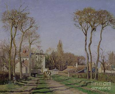 Entrance To The Village Of Voisins Art Print by Camille Pissarro