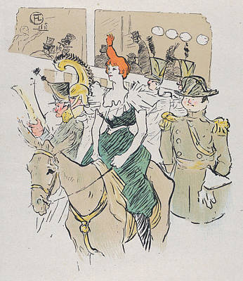 Post-impressionist Painting - Entree De Cha-u-kao, From Le Rire, No. 67 by Henri de Toulouse-Lautrec