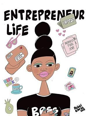 Painting - Entrepreneur Life by Deborah Carrie