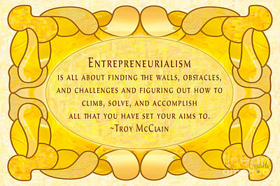 Confluence Digital Art - Entrepreneurialism Motivational Art By Omashte by Troy McClain