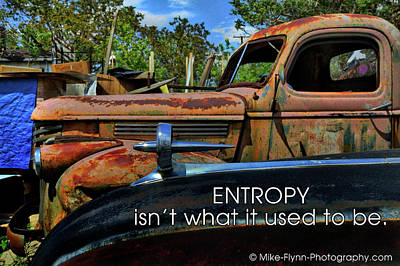 Photograph - Entropy by Mike Flynn