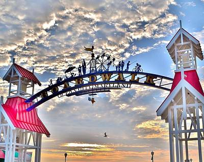 Photograph - Entry Arch - Ocean City Boardwalk by Kim Bemis