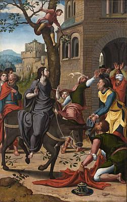 Pieter Coecke Van Aelst Painting - Entry Into Jerusalem by Pieter Coecke van Aelst