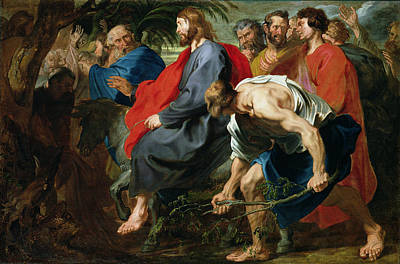 Olive Painting - Entry Of Christ Into Jerusalem by Sir Anthony van Dyke