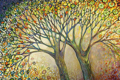 Oaks Painting - Entwined No 2 by Jennifer Lommers