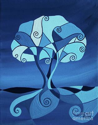 Painting - Enveloped In Blue by Barbara Rush