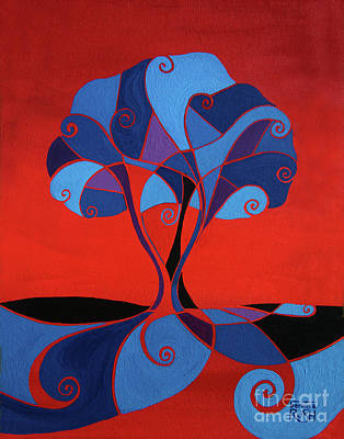 Painting - Enveloped In Red by Barbara Rush