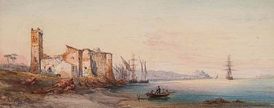 Cannes Painting - Environs De Cannes by Robert Jobling