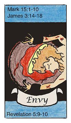 Revelation Drawing - Envy by Chayla Dion Amundsen-Noland
