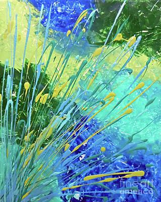 Abstract Handbag Painting - Envy by Jilian Cramb - AMothersFineArt