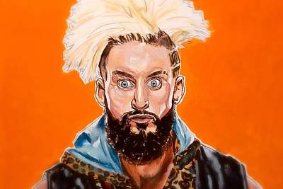 Painting - Enzo Amore by Joel Tesch