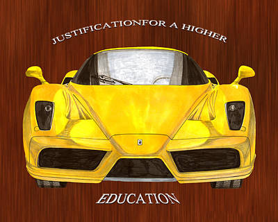 Painting - Justification For Higher Education 2004 Enzo Ferrari 400,  by Jack Pumphrey