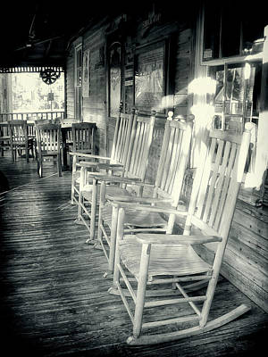 Photograph - Eocking Chairs Bw Series 1125 by Carlos Diaz