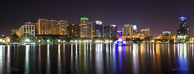 Eola Lake Pano Art Print by Shane Psaltis