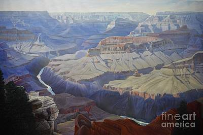 Grand Canyon Of Arizona Painting - Eons Of Sculpting by Jerry Bokowski