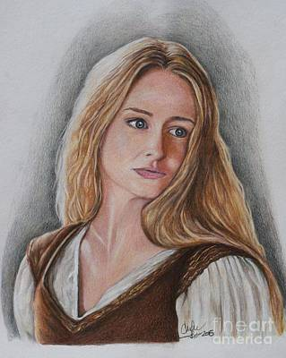 Drawing - Eowyn by Christine Jepsen