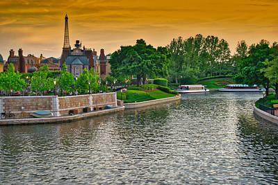 Epcot Boat Ride Walt Disney World Art Print