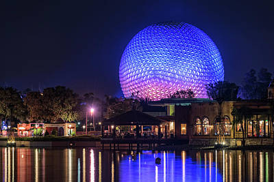 Photograph - Epcot Center Sphere - Disney World Orlando Florida by Jim Vallee