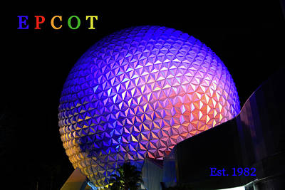 Photograph - Epcot Color Print One by David Lee Thompson