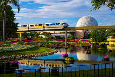 Photograph - Epcot - Disney World by Michael Tesar