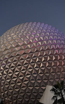 Photograph - Epcot Geodesic Dome I by Paulette B Wright