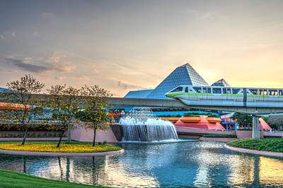 Photograph - Epcot Monorail by Alex Banakas